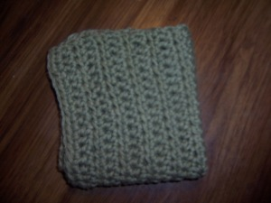 dishcloth folded over