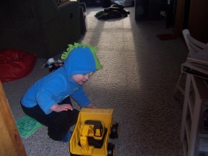 He wants to haul equipment just like Daddy