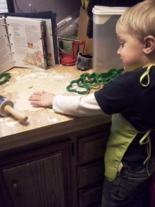 cutting his own cookie