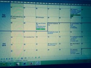 September & October Plans