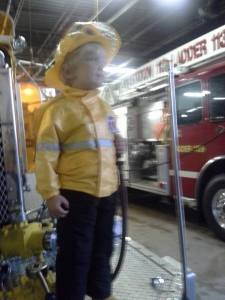 My future firefighter(this is from 2013, but he still has that coat & helmet)