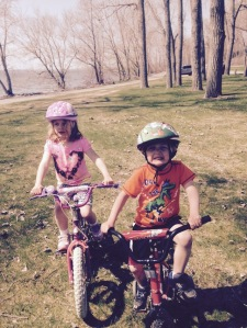 riding bikes at Presque Isle