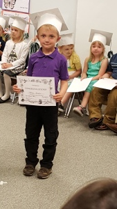 """Graduated"" from Pre-K, even though they still have 2.5 days of school left."