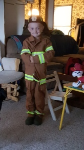 Our little firefighter
